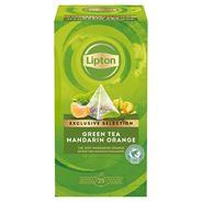 Lipton Herbata zielona aromatyzowana mandarynka i pomarańcza 54 g (30 x 1,8 g)