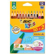 Bic Kids Evolution Kredki o trójkątnym kształcie 12 kolorów
