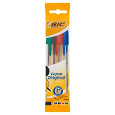 BIC Cristal Original Długopis mix AST Pouch, w opakowaniu 4szt