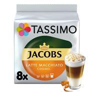 Tassimo Jacobs Latte Macchiato Caramel Kawa mielona 8 kapsułek i mleko 8 kapsułek 268 g