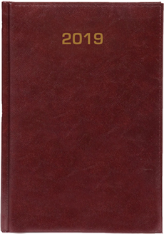 Kalendarz A5 skóropodobny BALADEK DZIENNY bordo