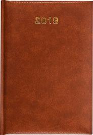 Dazar Baladek Kalendarz tygodniowy skóropodobny brązowy A5