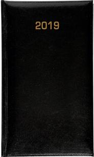 Kalendarz B6 skóropodobny BALADEK DZIENNY, czarny