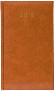 Kalendarz B6 skóropodobny BALADEK DZIENNY, brązowy