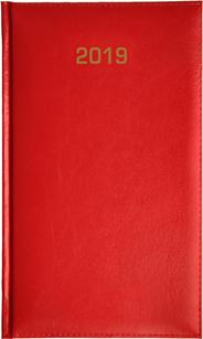 Kalendarz B6 skóropodobny BALADEK DZIENNY, czerwony