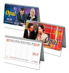 Kalendarz biurkowy poziomy