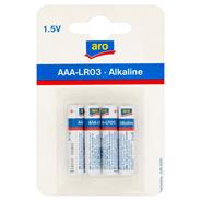 Aro Alkaline AAA LR03 1,5 V Bateria alkaliczna 4 sztuki