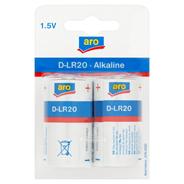 Aro Alkaline D-LR20 1,5V Bateria alkaliczna 2 sztuki