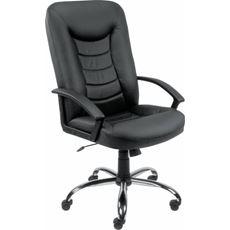 Sigma Castor Fotel skórzany czarny