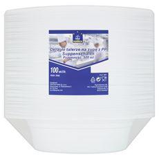 Horeca Select Okrągłe talerze na zupę z PP 500 ml 100 sztuk