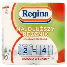 Regina Najdłuższy Ręcznik kolorowe dekoracje Ręcznik uniwersalny 2 warstwy 2 rolki