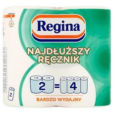 Regina Najdłuższy Ręcznik bardzo wydajny Ręcznik uniwersalny 2 warstwy 2 rolki 6 sztuk