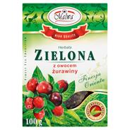 Malwa Herbata zielona z owocem żurawiny 100 g