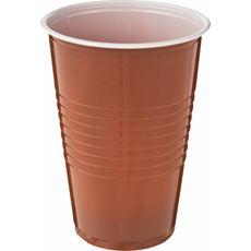 ARO Kubek plastikowy brązowy 200 ml