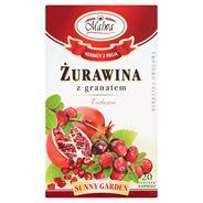 Malwa Sunny Garden Żurawina z granatem Exclusive Herbatka owocowo-ziołowa 40 g (20 torebek)