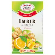 Malwa Sunny Garden Imbir & cytryna Exclusive Herbatka ziołowo-owocowa 40 g (20 torebek)
