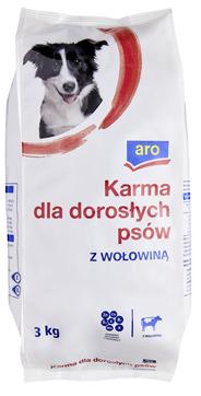 ARO Karma dla psów z wołowiną 3 kg