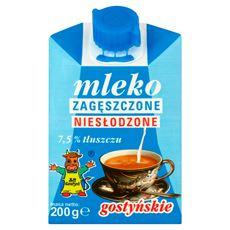SM Gostyń Mleko gostyńskie zagęszczone niesłodzone 7,5% 200 g 12 sztuk