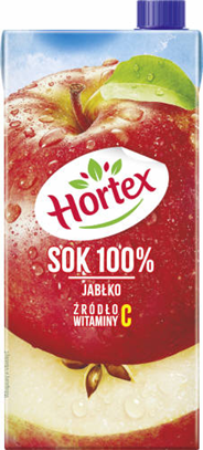 Hortex Sok 100% jabłko 2 l 6 sztuk