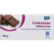 ARO czekolada mleczna z rodzynkami i orzeszkami arachidowymi 100 g