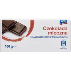 ARO czekolada mleczna z nadzieniem o smaku truskawkowym 100 g