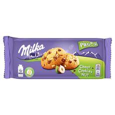 Milka Pieguski Choco Cookie Raisins Ciasteczka z kawałkami czekolady mlecznej i rodzynkami 135 g