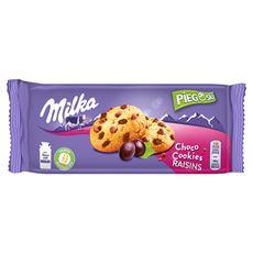 Milka Pieguski Choco Cookie Raisins Ciasteczka z kawałkami czekolady mlecznej i rodzynkami 135 g 6 sztuk