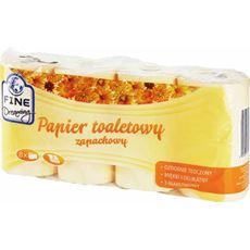 Fine Dreaming Papier toaletowy o zapachu kwiatowym pomarańczowy 8 rolek