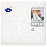 Duni Dunilin Serwetki Sarala White 40 x 40 cm 50 sztuk