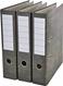 Segregator dźwigniowy kartonowy A4/75 szary 3 sztuki