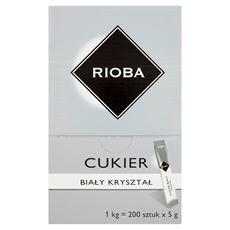 Rioba Cukier biały kryształ 1 kg (200 x 5 g)