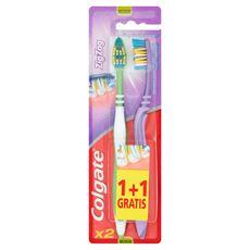 Colgate ZigZag Szczoteczka do zębów Średnia 2 sztuki