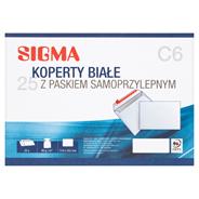 Sigma Koperty samoprzylepne białe C6 1 opakowanie