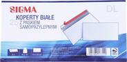 Sigma Koperty samoprzylepne białe DL 25 sztuk