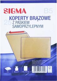 Sigma Koperty samoprzylepne brązowe B5 25 sztuk