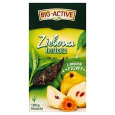 Big-Active Zielona herbata liściasta z owocem pigwy 100 g