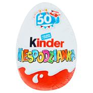 Kinder Niespodzianka Słodkie jajko z niespodzianką pokryte czekoladą mleczną 20 g 72 sztuki