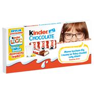 Kinder Chocolate Batoniki z mlecznej czekolady z nadzieniem mlecznym 100 g (8 batoników)