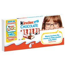 Kinder Chocolate Batoniki z mlecznej czekolady z nadzieniem mlecznym 100 g (8 batoników) 10 sztuk