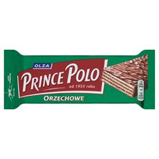 Olza Prince Polo Orzechowe Kruchy wafelek z kremem o smaku orzechowym oblany czekoladą 35 g 32 sztuki