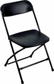 Polyfold K-02 Krzesło składane czarne
