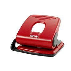 Sigma 418 Dziurkacz czerwony 25 kartek