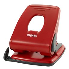 Sigma 518 Dziurkacz czerwony 40 kartek
