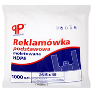 PP Professional Reklamówka podstawowa moletowana HDPE 26/6 x 45 1000 sztuk