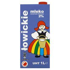 Łowicz Mleko łowickie UHT 2% 1 l 12 sztuk