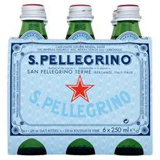 S.Pellegrino Naturalna woda mineralna gazowana 6 x 250 ml
