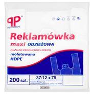 PP Professional Reklamówka maxi odzieżowa moletowana HDPE 37/12 x 75 200 sztuk