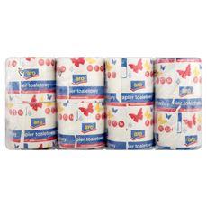 Aro Papier toaletowy makulaturowy 12 x 4 rolki