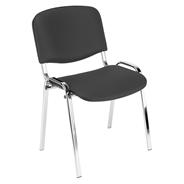 Nowy Styl Krzesło konferencyjne Iso Chrom czarne