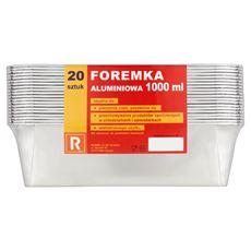 Foremka aluminiowa 1000 ml 20 sztuk
